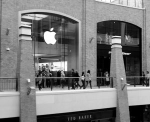 Fig. 10 Reimaged Belfast attracting global brands, Apple, Victoria Square, Belfast city centre Fig.