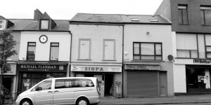 Fig. 13 Buildings and commercial signage on Belfast's Falls Road