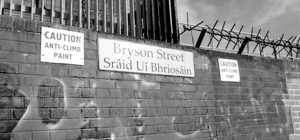 Fig. 8 A close-up view of the Brys on Street Peace Wall, East Belfast
